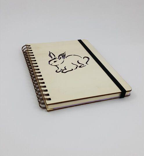 Ahşap Kapaklı Tavşan Defter / Ajanda #ahşap #kapaklı #tavşan #defter #ajanda #hediyelik
