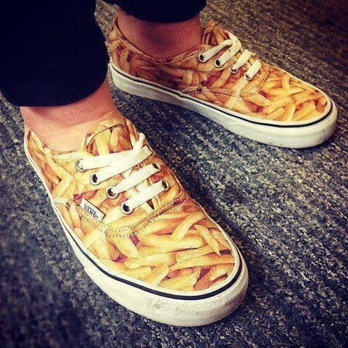 French Fry Vans These are perfect to wear on FRIEdays