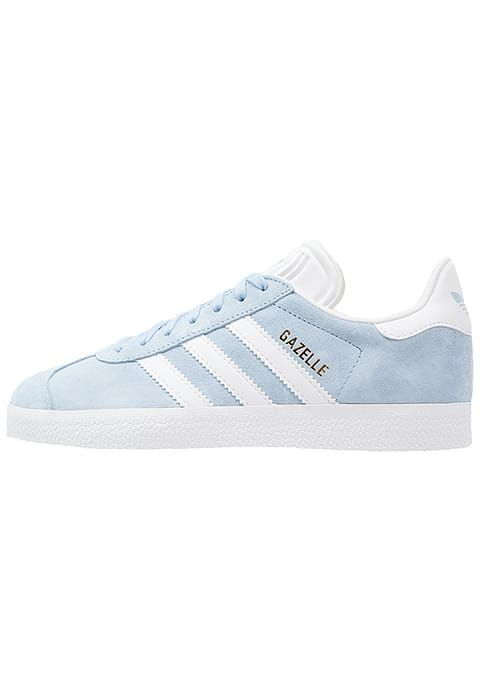 GAZELLE - Sneaker low - clear sky/white/gold metallic. Adidas ...