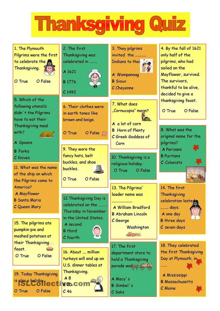 Thanksgiving Quiz | THANKSGIVING | Pinterest | Thanksgiving, Student-centered resources and Quizes