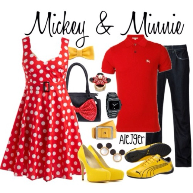 Easy Mickey and Minnie idea... oh yeah just for Halloween!