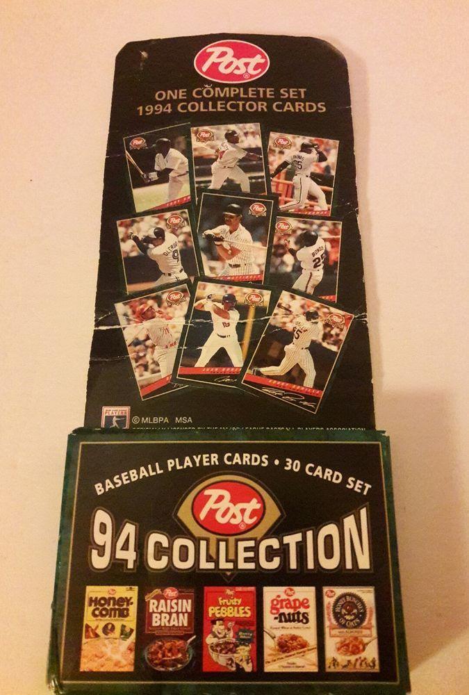 Post 1994 Baseball Player Cards 30 Card Set Collection Sealed | Sports Mem, Cards & Fan Shop, Sports Trading Cards, Baseball Cards | eBay!