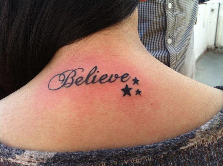 Believe tattoo with cross
