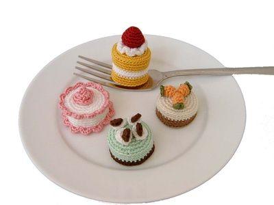 Heel veel gratis patroontje (ENG) om taartjes en koekjes te haken!!!