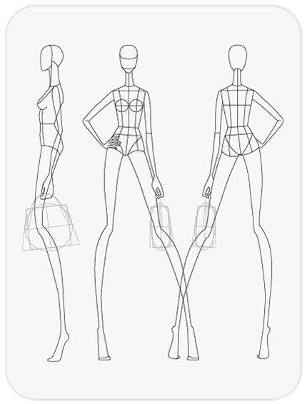 41 best PRINTABLE TEMPLATES Fashion Figure Templates