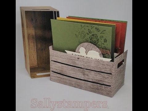 Wood Texture Crate. One of my favourites from the new Annual Catalogue. Independent Stampin' Up!® Demonstrator UK.