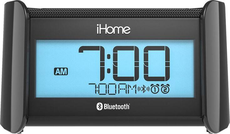 iHome - Bluetooth Bedside Dual Alarm Clock Radio - Black