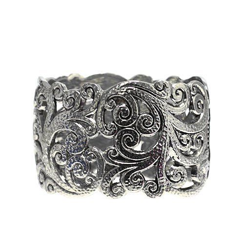 """Fashion Metal Cuff; 1.75"""" L; Burnished Silver Metal; Eileen's Collection. $19.99"""