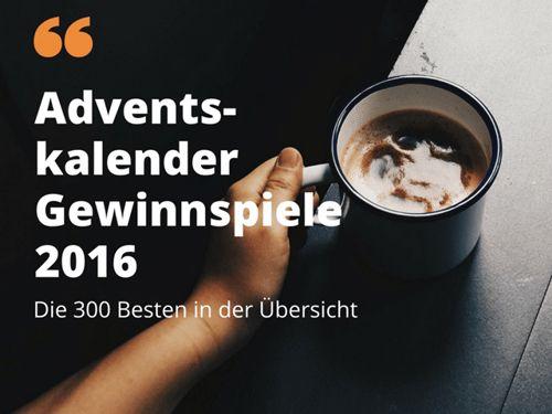 Über 300 Online Adventskalender Gewinnspiele