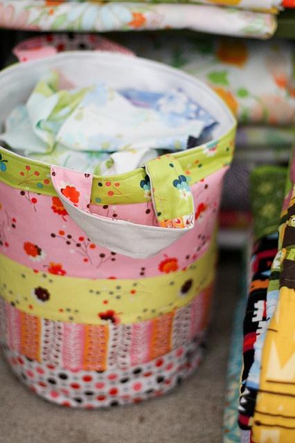 Scrap Basket {no pattern}