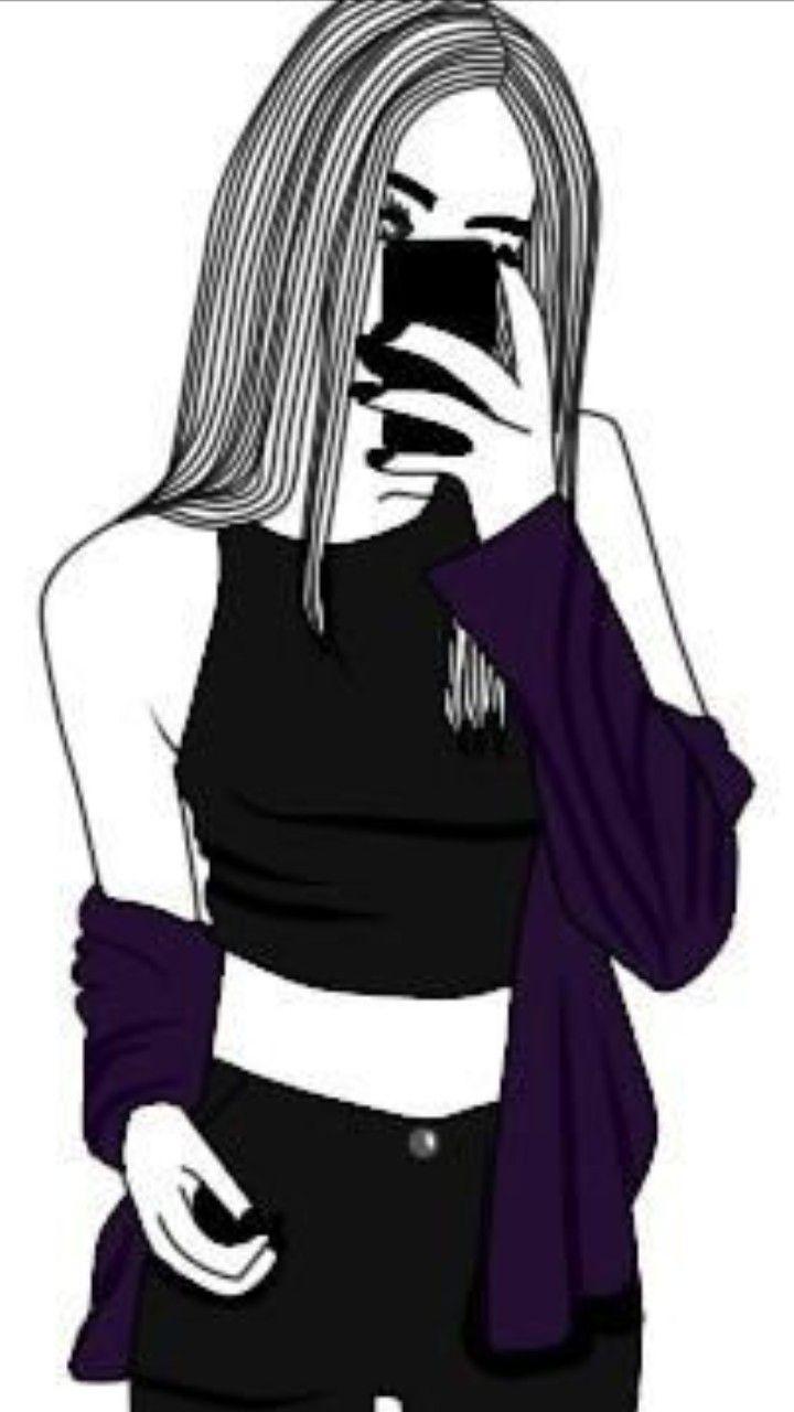 Pin De Instagram Nunayi Em Wektor Menina Tumblr Desenho