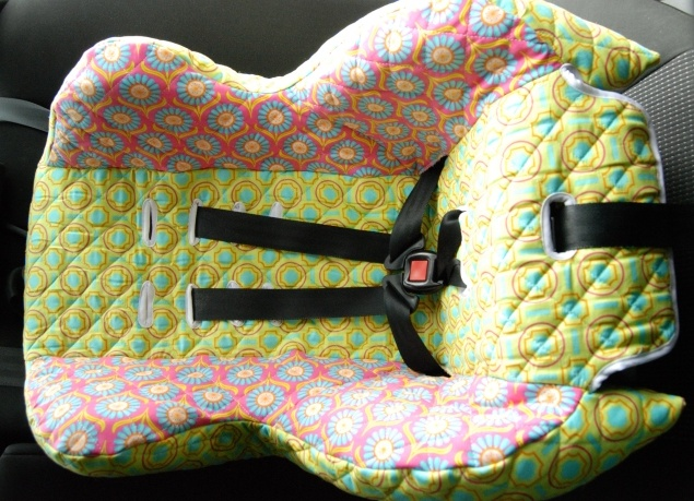 Sewing a new car seat cover