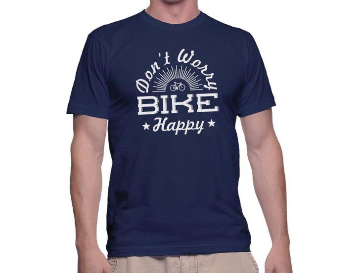 Tricou Capital T Bike Happy Navy Blue