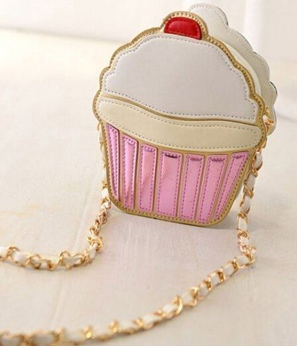 This delectable cupcake crossbody purse.   20 Products Shaped Like Delicious Foods For Under $20