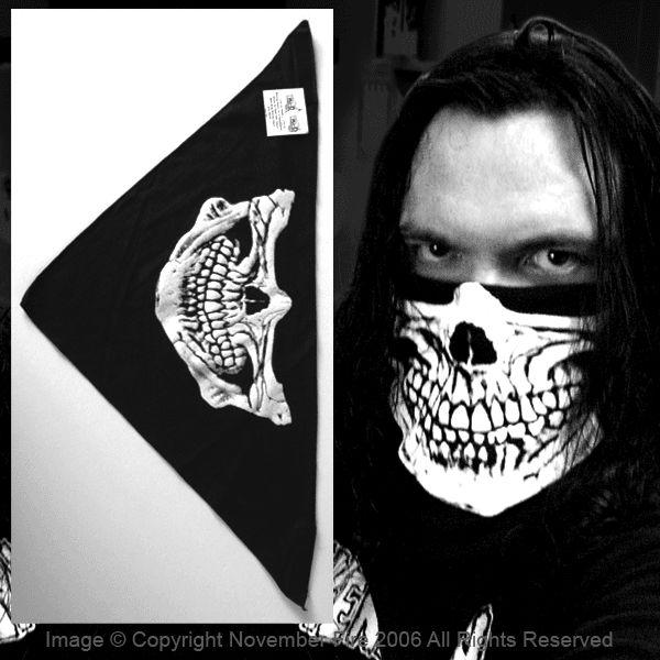 Half Skull Bandana Mask