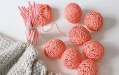 DIY Cotton Ball Lichterkette