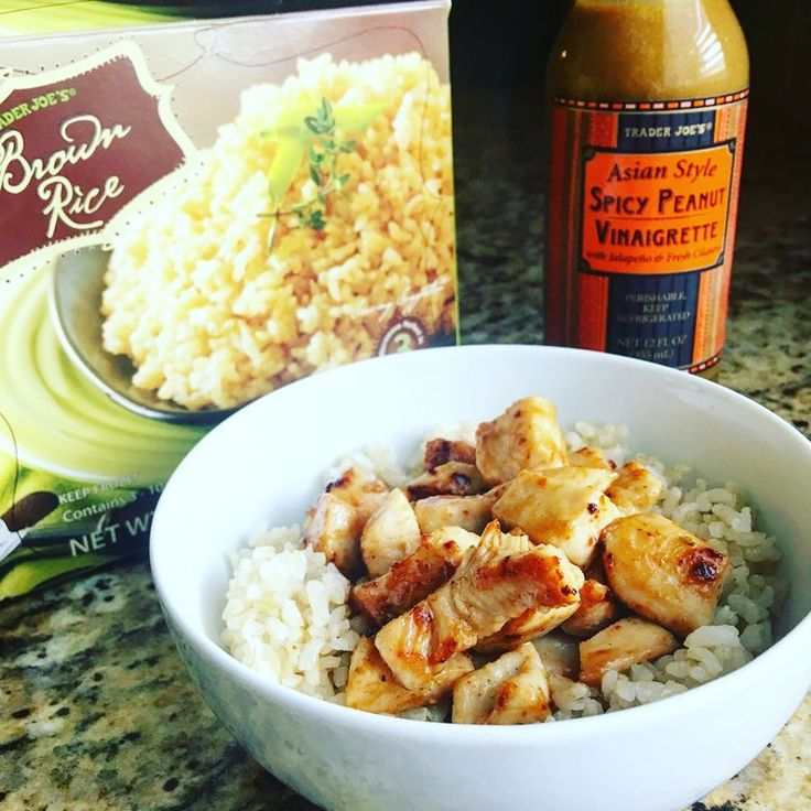 Trader Joe's Peanut Sauce Vinaigrette Chicken & Rice Bowl — JESS DUKES