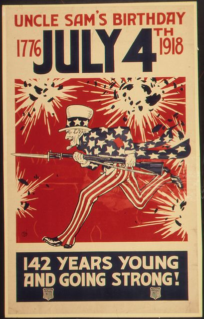 1918 July 4th Poster