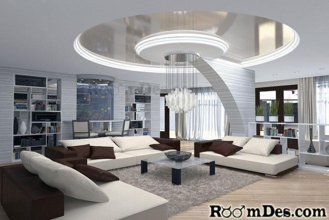 Ultra modern living room interior home design for Very modern living room