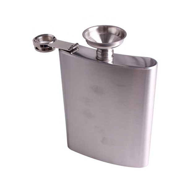 Portable Pocket Stainless Steel 18oz Hip Flask Drink Liquor Whisky Alcohol Flask Screw Cap and Funnel Drink Bar Accessories #Affiliate