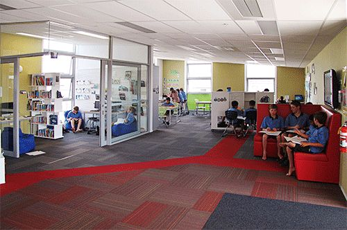 Innovative Classroom Environment : Breakout spaces offer flexibility innovative classroom