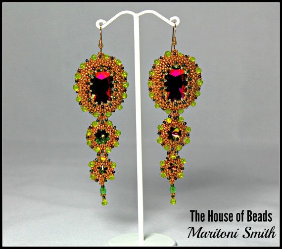 Swarovski Crystal Vitrail Medium Earrings by TheHouseofBeads