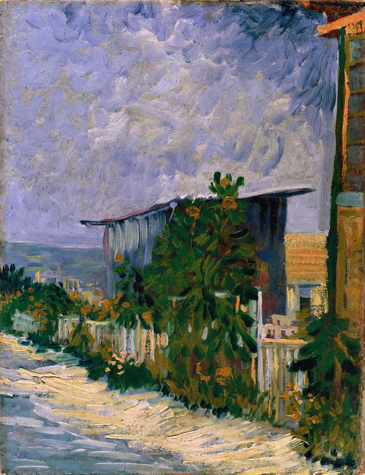 Shelter on Montmartre, 1884-88.Vincent van Gogh.