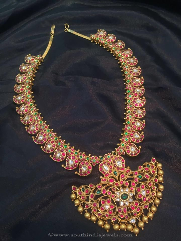 Antique Ruby Mango Necklace from MOR Jewellers
