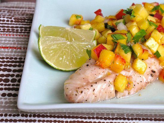 Pin for Later: 18 High-Protein Meals That Make Amazing Dinners Rockfish With Peach Salsa What we love about this recipe for rockfish with peach salsa is how versatile it is; the salsa works just as well on chicken or pork.
