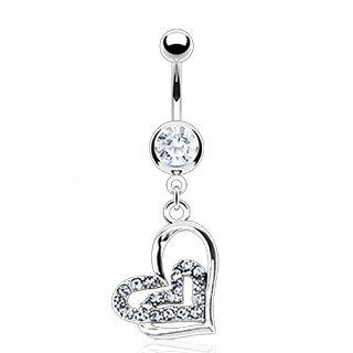Clear Gemmed Heart Dangle Belly Button Ring Nemesis Body Jewelry, $9.99 (http://www.nemesisbodyjewelry.com/clear-gemmed-heart-dangle-belly-button-ring/)