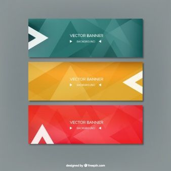 Abstract colored banners