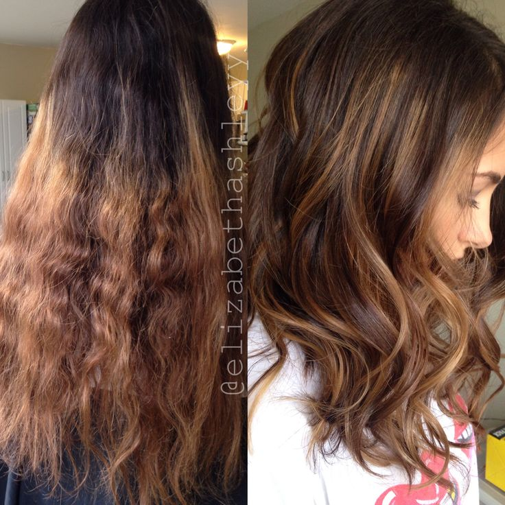 Before And After Correction Medium Length Hair