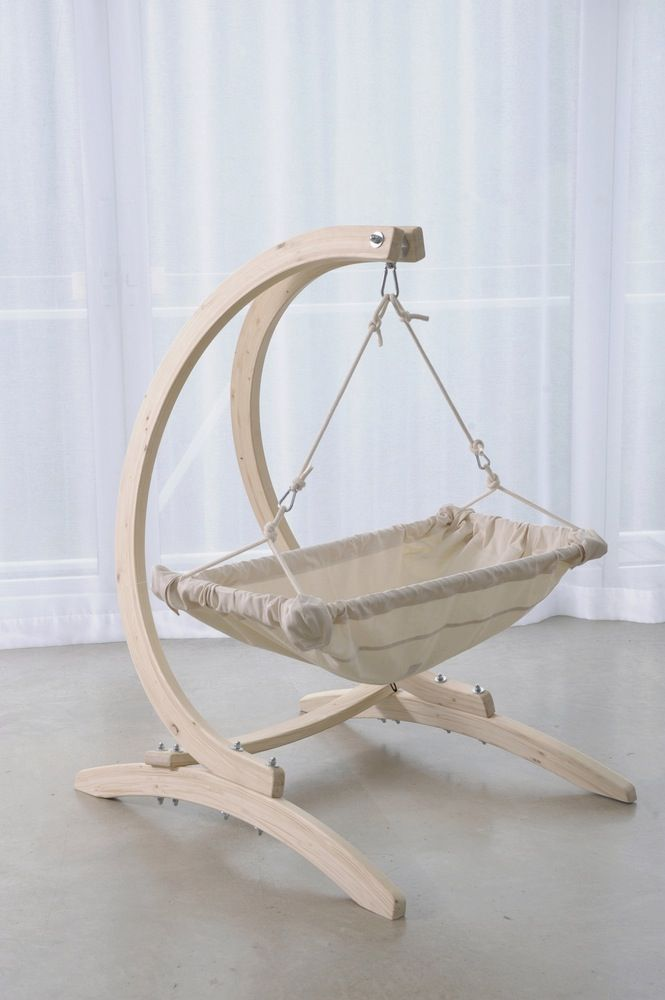 Baby gear and hammocks — AMAZONAS Kaya Natura baby hammock & Wooden Carello baby stand