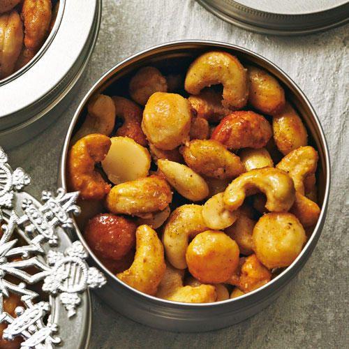 Ein Rezept für Honig-Salz-Nüsse