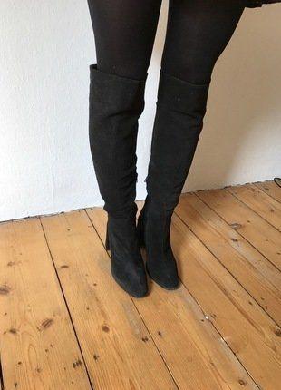 Kaufe meinen Artikel bei #Kleiderkreisel http://www.kleiderkreisel.de/damenschuhe/stiefel/149792431-wildleder-overknee-stiefel-zara-70s-blogger-retro-chic