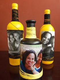 Essas nossas garrafas . . . novamente aqui estão elas! Elas nos fazem brincar de artistas! Nesta postagem resolvemostrabalhar com tint...