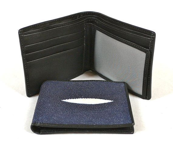 Father Day's Gift Genuine Stingray Leather Men Wallet with ID or by NancyBoutiqueUSA