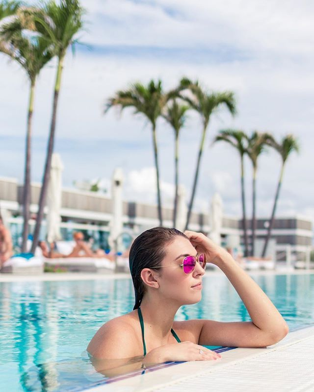Instagram Danaberez Taking In The View From The 1 Hotel South Beach Rooftop Miami Beach Hotel Rooftop Pool Miami Beach Hotels South Beach Hotels Rooftop Pool