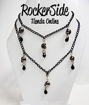Collar doble con calaveras. $20.000 Adquierelo en www.rockerside.com Envíos a todo Colombia, aceptamos todos los medios de pago