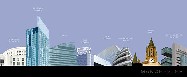Work of Eamonn Murphy is so good. Here is his digital illustration of iconic Manchester buildings and he has many more Manchester related illustrations. Go and ssee it all on his Behance profile.