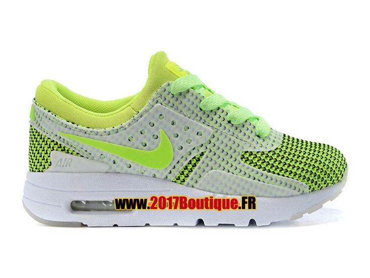Nike Air Max Zero (PS) Chaussure Nike Sportswear Pas Cher Pour Petit Enfant Blanc / Vert