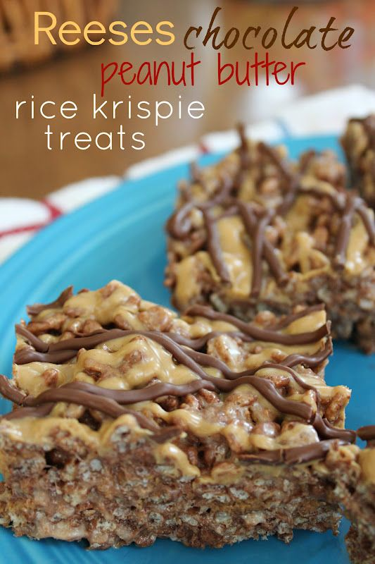 Fun with the Fullwoods: Reeses Chocolate Peanut Butter Rice Krispie Treats