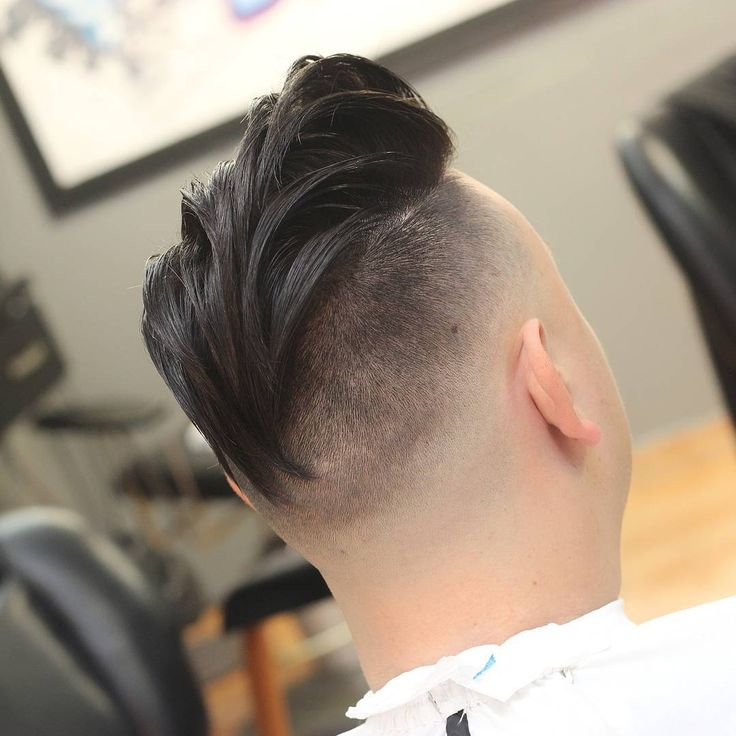 Pompadour Style with Drop Fade