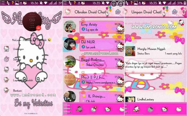 BBM Mod Droid Chat v2.9.0.45 Apk Tema Hello Kitty ~ MASSABDI