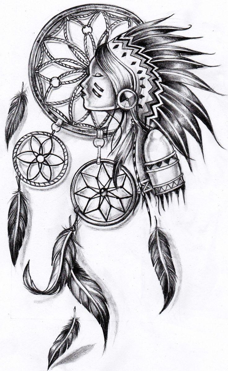 Картинка на тату ловец снов