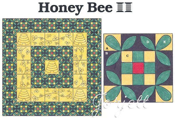 Details About Honey Bee Quilt Block Amp Quilt Quilt Sewing