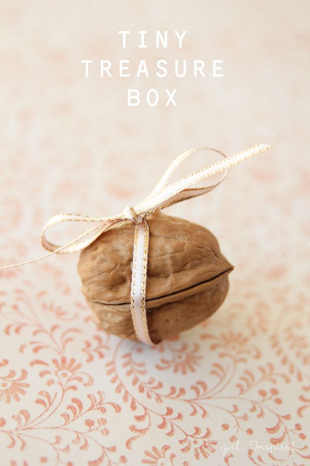 DIY: a Tiny Treasure Box made from a walnut - wait til you see what is inside!