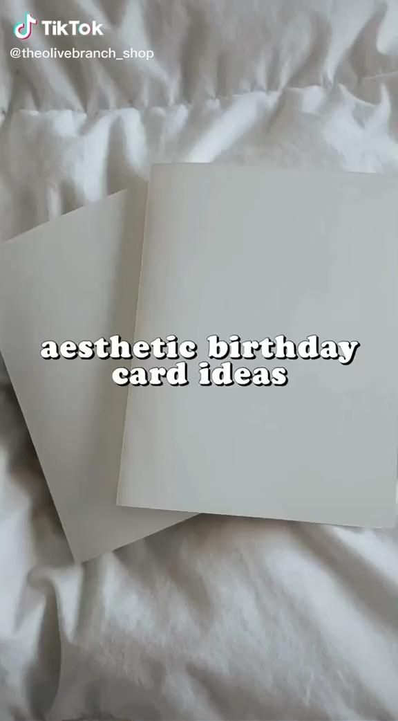 Aesthetic Birthday Card Ideas Video in 2020 | Birthday ...