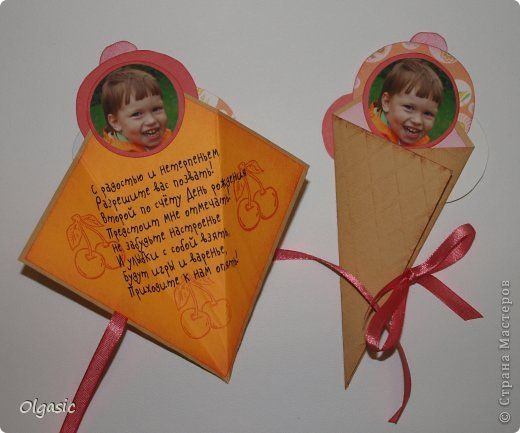 Открытка Скрапбукинг День рождения Аппликация Приглашения на детский День рождения Бумага Клей фото 4