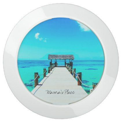 #Tropical Beach Turquoise Water USB Charging Station - beach travel beachlife